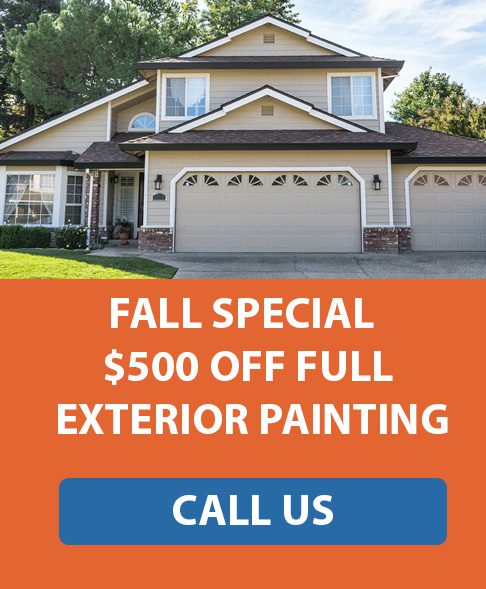 $500 Off Exterior Painting Fall Special