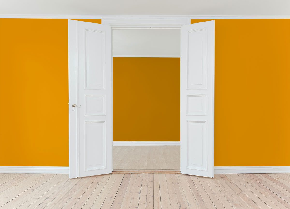 House interior after painting