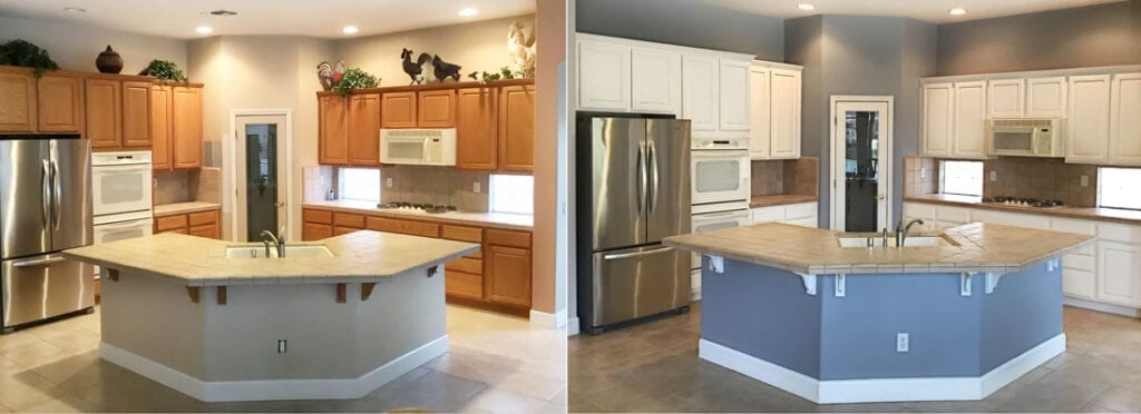 Before and After Kitchen Cabinet Colors