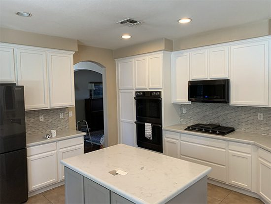 Arden-Arcade White Painted Cabinets